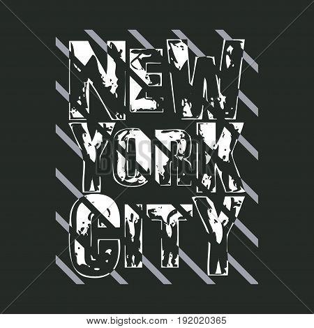 New York typography t-shirt NY design graphic printing man NYC original clothing graphic design