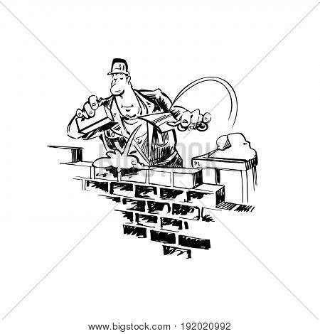 home builder cartoon . Vector Illustration design