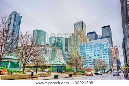 View of buildings in downtown Toronto - Ontario, Canada