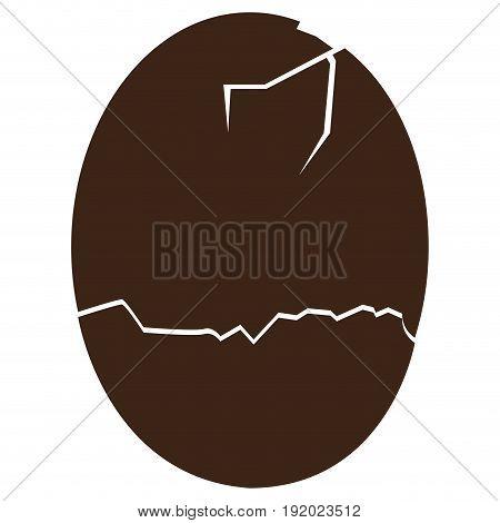 Isolated broken eggshell silhouette on a white background, Vector illustration