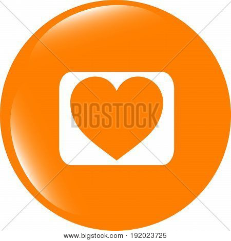 Love Heart Icon Button Sign . Flat Sign Isolated On White Background