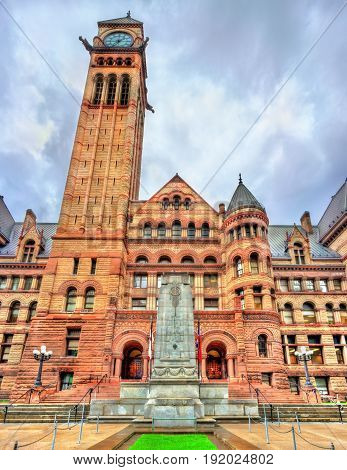 The Old City Hall, a Romanesque civic building and court house in Toronto - Ontario, Canada