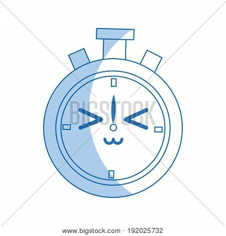 kawaii chronometer clock stopwatch timer speed vector illustration