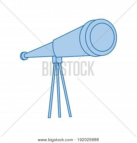 telescope icon observe instrument find business concept vector illustration