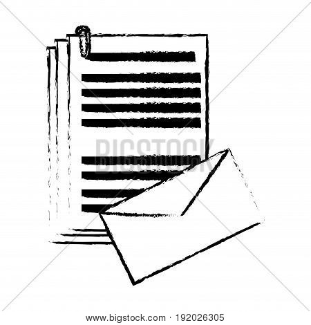 envelope document paper files office supplies elements vector illustration