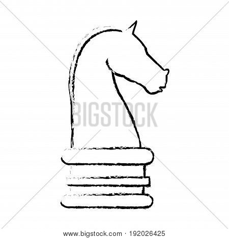 chess knight strategy business websites image vector illustration