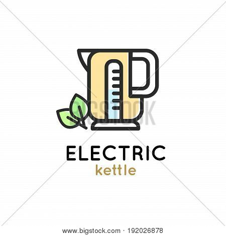 Electric kettle modern Simple Icon for web or print.