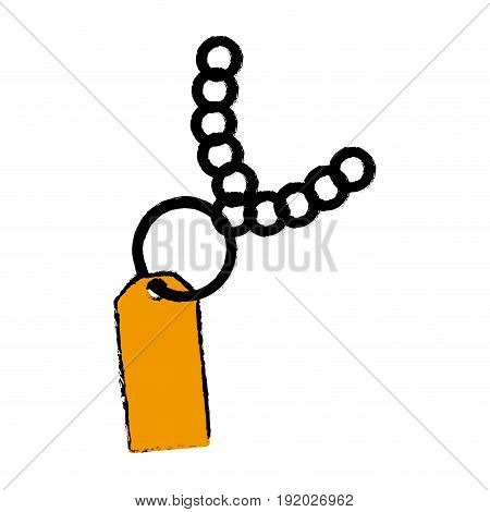 paper tag with ring market empty with chain vector illustration