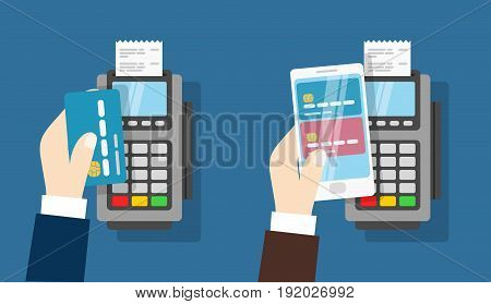 Nfc payment pos terminal. Wireless Payment by credit card and phone.