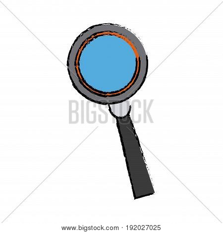 magnifying glass analysis business element icon vector illustration