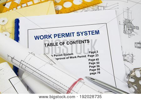 Work Permit system with table of contents