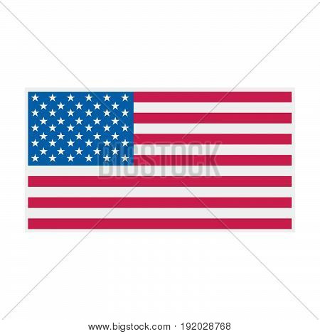 American flag vector color Illustration. USA flag vector.