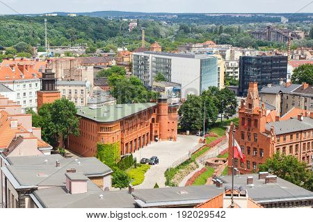 Poznan, Poland - June 28, 2016: View On Old Or Modern Buildings In City Poznan