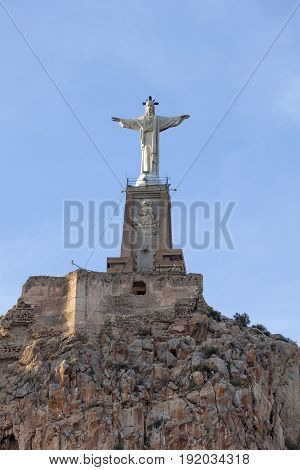 Statue of Jesus in Monteagudo region Murcia Spain
