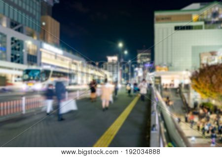 Abstract blur background of Shijuku district .