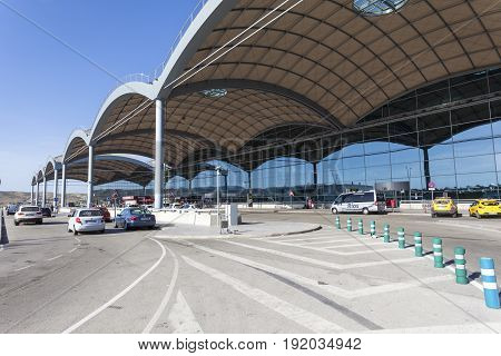 Alicante Spain - May 27 2017: Exterior view of the Alicante international airport in Spain