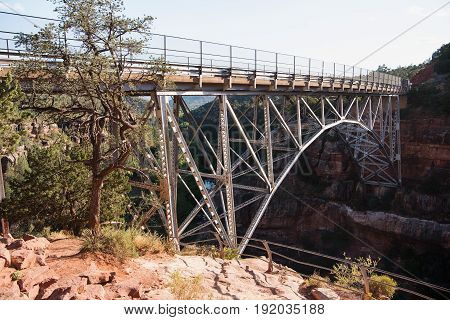 Midgley Bridge on highway US 89A just north of Sedona Arizona The bridge spans Wilson Canyon where the canyon enters Oak Creek Canyon.