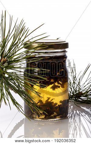 Jam from pine buds. Coniferous syrup (medicinal / herbal medicine). Cedar jam.