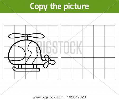 Copy the picture, education game for children, Helicopter