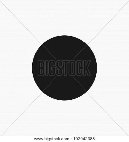 Media player record button flat vector icon.