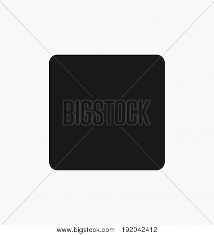 Media player stop button flat vector icon.