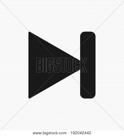 Media player next button flat vector icon.