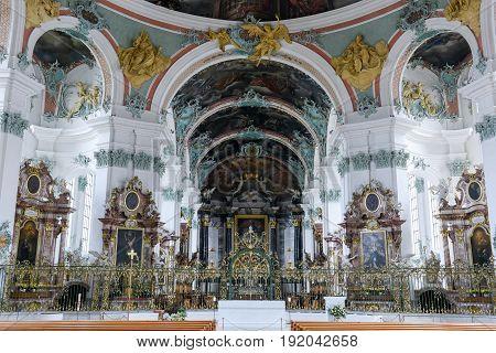 Abbey Of St. Gallen On Switzerland