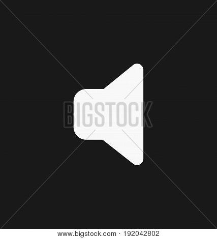 Media player sound volume button flat vector icon.