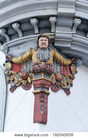 Statue At The Old Town Of St. Gallen On Switzerland