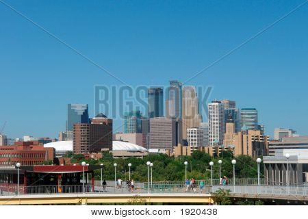 Minneapolis Skyline From U Of M Campus