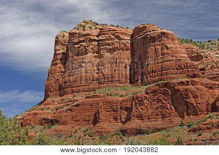 Red Rock Monolith in the Desert near Sedona Arizona