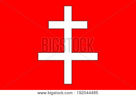 Flag of Saint-Omer is a commune in France. Vector illustration