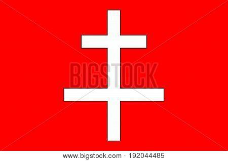 Flag of Saint-Omer is a commune in France. Vector illustration