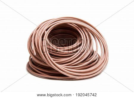 Coaxial cable communication industrial isolated on white background