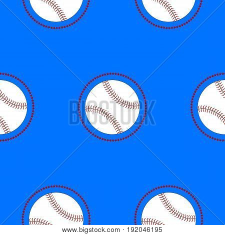 Seamless pattern with balls. Vector flat background. Healthy Lifestyle.Flat Vector Seamless Sport and Recreation Activity Baseball Pattern.