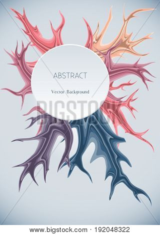 Abstract background with splashes of color.Vector illustration.