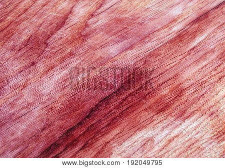 Color Toned Wooden Board Surface Wuth Scratches.
