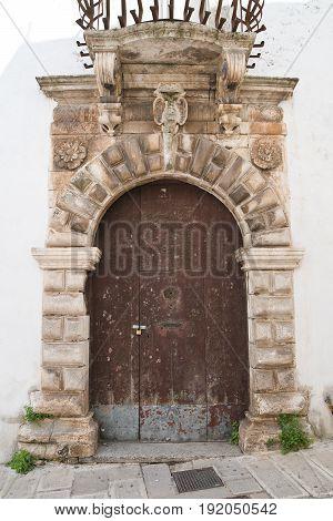 Historical palace of Martina Franca. Puglia. Italy.