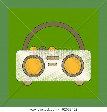 flat shading style icon of tape recorder