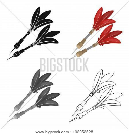 Darts for the wind gun.African safari single icon in cartoon style vector symbol stock illustration .