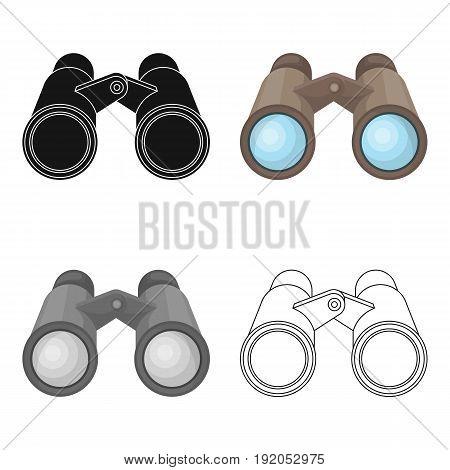 Binoculars for observation.African safari single icon in cartoon style vector symbol stock illustration .