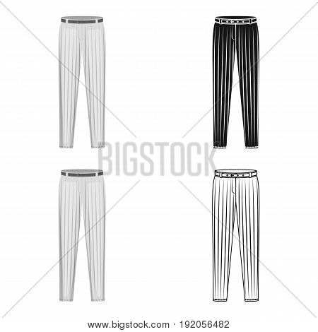 Uniform pants baseball. Baseball single icon in cartoon style vector symbol stock illustration .