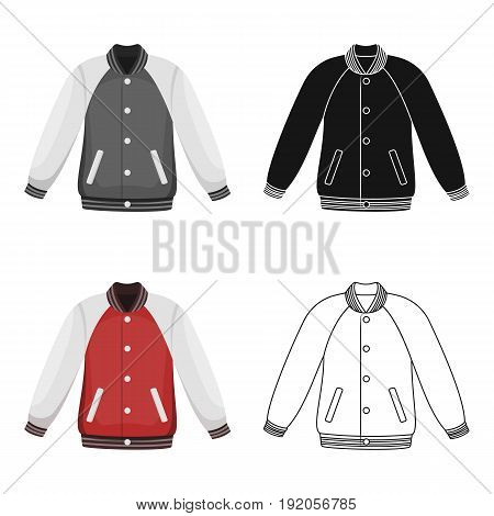 Uniform baseball jacket. Baseball single icon in cartoon style vector symbol stock illustration .