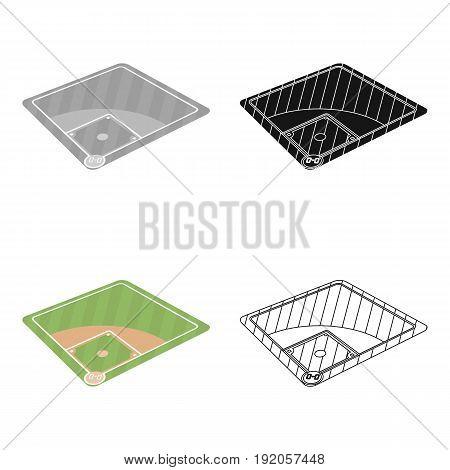 Baseball court. Baseball single icon in cartoon style vector symbol stock illustration .