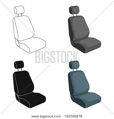 Car seat.Car single icon in cartoon style vector symbol stock illustration .