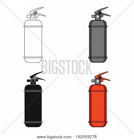 Fire extinguisher powder.Car single icon in cartoon style vector symbol stock illustration .