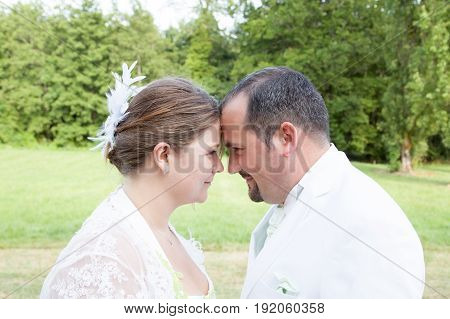 Young Married Couple In Love In Marriage Celebration
