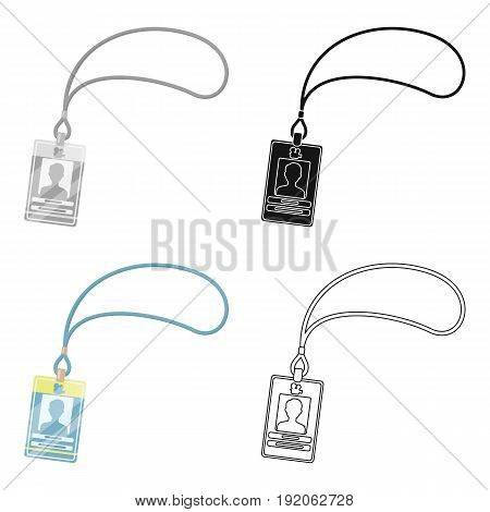 Badge on the tape.Making movie single icon in cartoon style vector symbol stock illustration .
