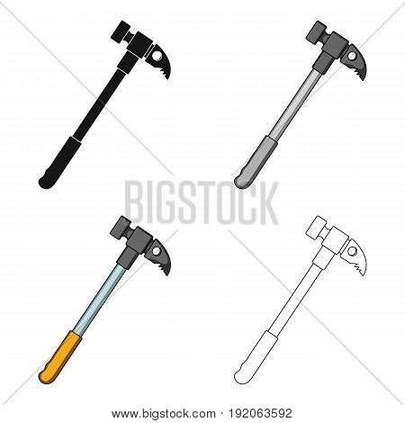 Hammer of climber.Mountaineering single icon in cartoon style vector symbol stock illustration .