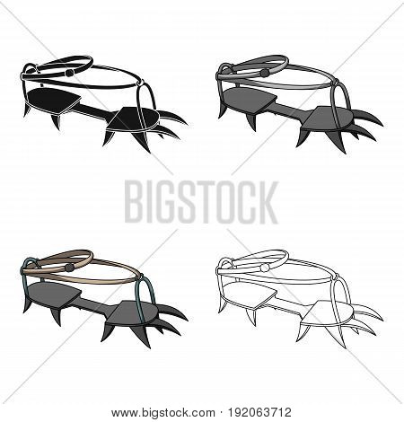 Spikes on the shoes.Mountaineering single icon in cartoon style vector symbol stock illustration .